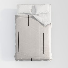 Mudcloth white black dashes vectical Comforters