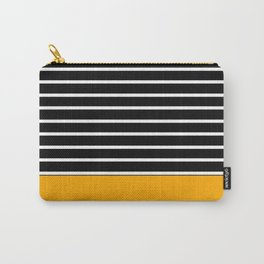 black and yellow stripes Carry-All Pouch