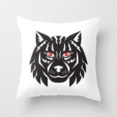 Lynx Cat Head Front Throw Pillow