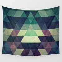 spires Wall Tapestries featuring dysty_symmytry by Spires