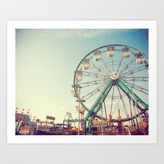 Sunset at the Carnival Art Print