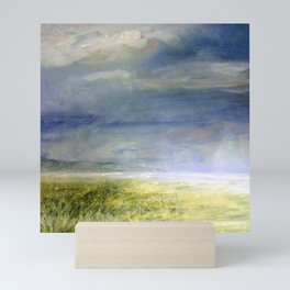 Sea Shore Watercolor Ocean Landscape Nature Art Mini Art Print