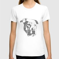 pitbull T-shirts featuring COACH - GREY by Kirk Scott