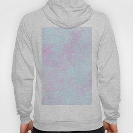 Elegant pink teal watercolor abstract marble Hoody