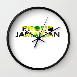 Proud Jamaican Wall Clock