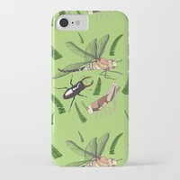 insects iPhone & iPod Cases featuring Insects by The Bird Draws