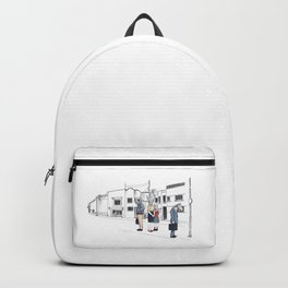 "Brix and Bailey ""Waiting In Line"" Backpack"