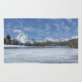 Grand Tetons and Snake River from Oxbow Bend Rug