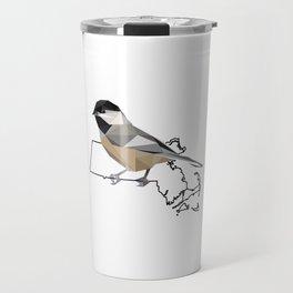 Massachusetts – Black-Capped Chickadee Travel Mug