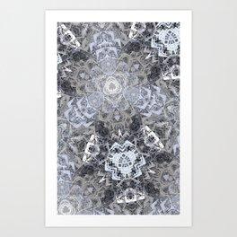 fractal metal plates Art Print