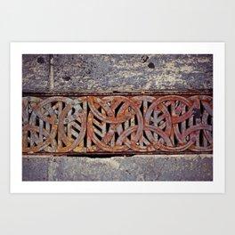 Curve & Rust Art Print