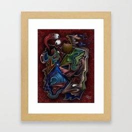 """Seeing Spirals Through Abstraction"" Framed Art Print"
