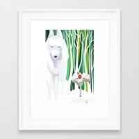 princess mononoke Framed Art Prints featuring Princess Mononoke by youcoucou