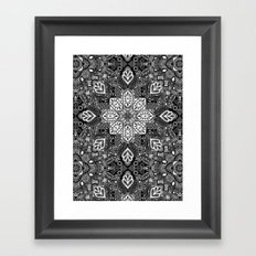Gypsy Lace in White on Black Framed Art Print