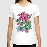 oriental T-shirts featuring Oriental Flowers by Chicca Besso