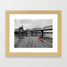 Red By The River Framed Art Print