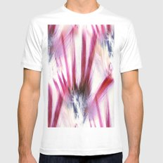 Pheasant Abstract Mens Fitted Tee White MEDIUM