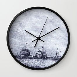 Mastery of Nature by Man Wall Clock