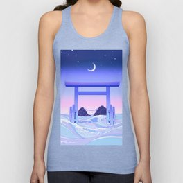 Floating World Unisex Tank Top