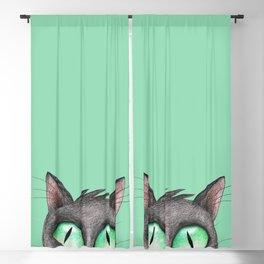Peek a boo cat Blackout Curtain