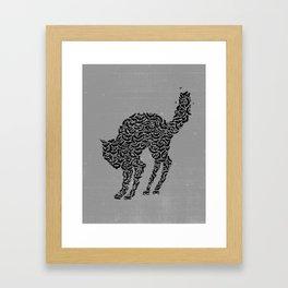 Bat Cat Framed Art Print