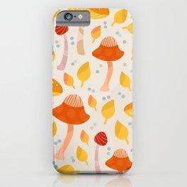 Mushrooms - orange and yellow iPhone Case