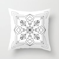 gem Throw Pillows featuring Gem by enkorporated
