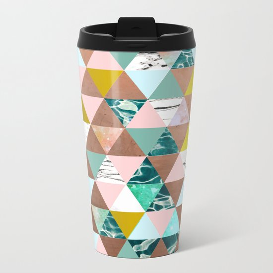 Life in a Pattern #society6 #decor #buyart Metal Travel Mug