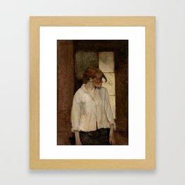 """Henri de Toulouse-Lautrec """"At Montrouge ( Rosa la Rouge)"""" Framed Art Print"""