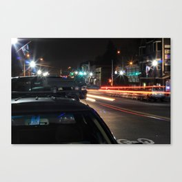 Streets Go By #1 Canvas Print