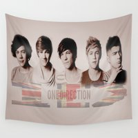 one direction Wall Tapestries featuring One Direction by store2u