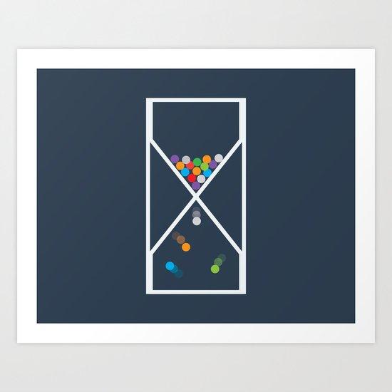 Entropy sandclock Art Print