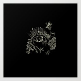 The eye watching you Art Print