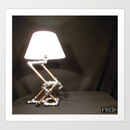 Articulated Desk Lamps - Copper and Chrome Collection - FredPereiraStudios_Page_03 Art Print