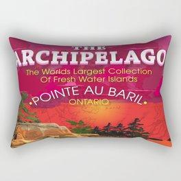 The Archipelago with Type Rectangular Pillow