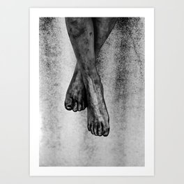 stone feet Art Print