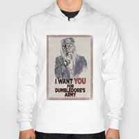 dumbledore Hoodies featuring Uncle Dumbledore by spacemonkeydr