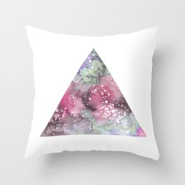 Watercolor Galaxy Triangle Throw Pillow