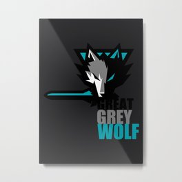 Great Grey Wolf Metal Print