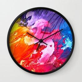 BRIGHT ABSTRACT PAINTING Wall Clock