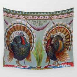 Thanksgiving Greetings 1906 Wall Tapestry