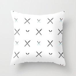 Crisscross Matches Blue Throw Pillow