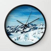 alaska Wall Clocks featuring Alaska by Elise Giordano
