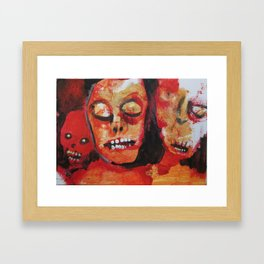 "THE AESTHETICS OF UNDEATH"" #38, original art Framed Art Print"