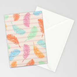 Dancing summer feathers Stationery Cards