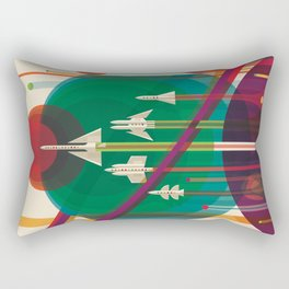 NASA Retro Space Travel Poster #5 Rectangular Pillow