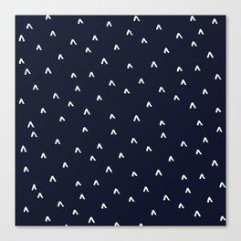 Arrow Heads // Navy Canvas Print