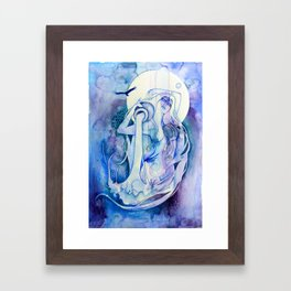 Goddess of Aquarius - An Air Elemental Framed Art Print