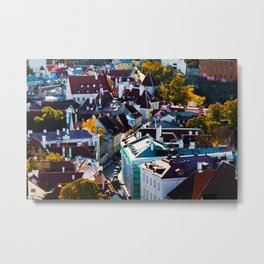 City view of Tallinn. Buildings and architecture exterior view  Metal Print