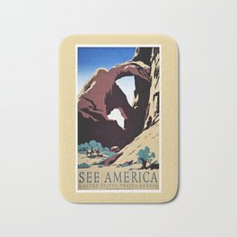 See America travel ad Bath Mat